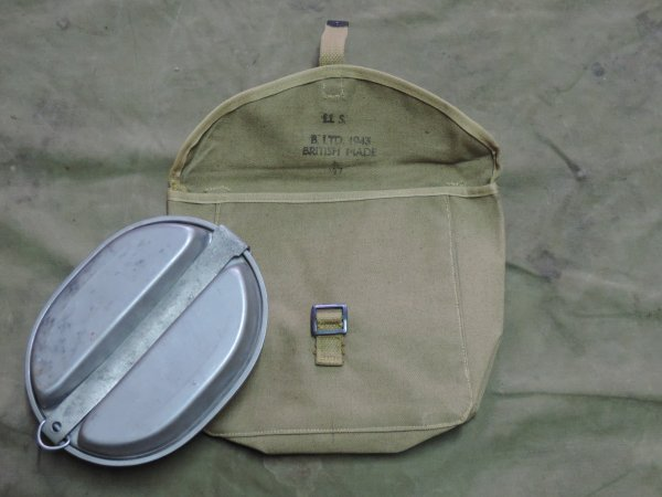 US WW2 MEAT CAN POUCH BRITISH MADE 1943