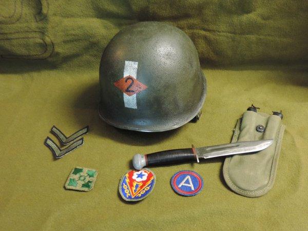 US WW2 2ND RAGER HELMET