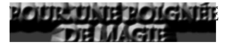 POUR UNE POIGNEE DE MAGIE de FLIMARTZA