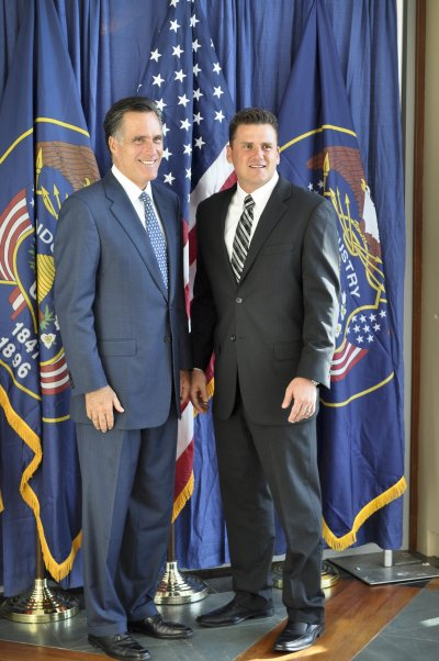 Photos with Mitt Romney an David Decker