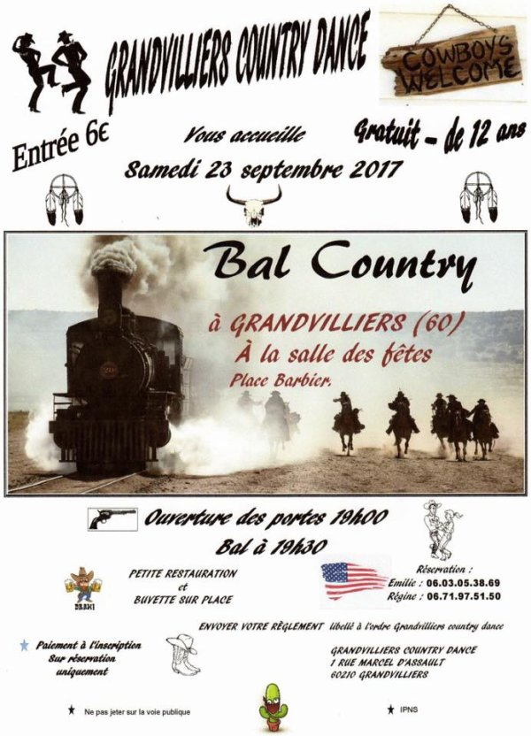 Bal COUNTRY à Grandvilliers 60