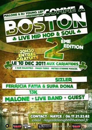Malone & DJ Young Lef présentent Comme A Boston + Concours première partie