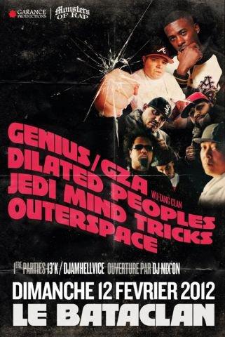 Malone en première partie de Dilated People, GZA, Outer Space avec 13 K au Bataclan