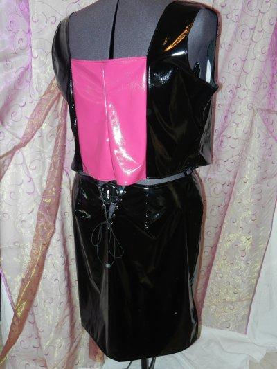 jupe vinyl sexy ouverture au dessus des fesses
