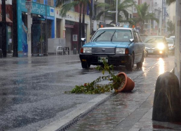 Typhon Vongfong: 20 blessés à Okinawa sur l'île japonaise d'Okinawa