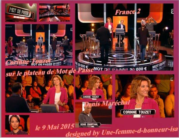"""Corinne sur le plateau de """"Mot de Passe"""" 2ème passage."""