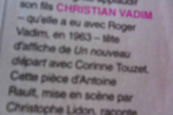 """""""Revue de Presse"""": Catherine Deneuve va applaudir son fils dans """"Un nouveau départ"""""""