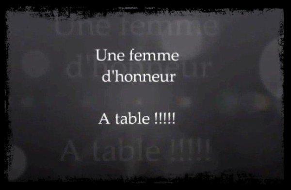 Une femme d'honneur: les repas de la brigade (LRDLB) Partie 1