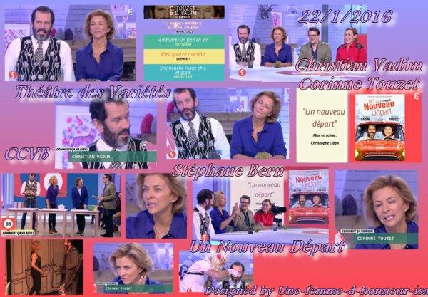 Corinne Touzet et Christian Vadim CCVB avec Stéphane Bern 22/1/2016
