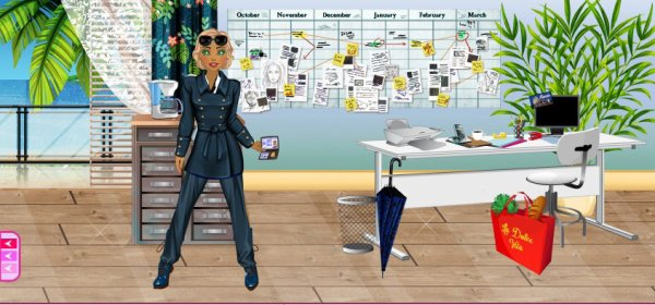 Isabelle travaille dans son bureau à Grasse