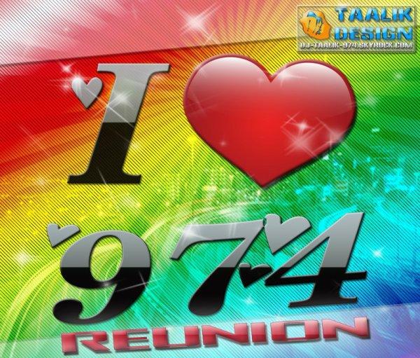 I ♥ 974  REUNION   I LOVE 9 7 4