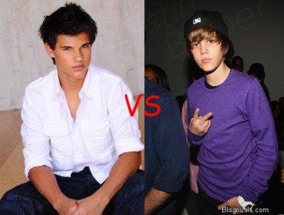Taylor Lautner VS Justin Bieber