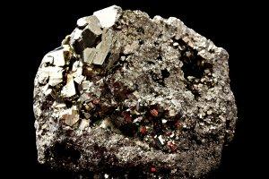Pyrite, afghanite et lapis lazuli