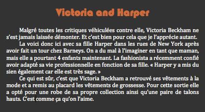 Victoria and Harper • Posté par: Kévin | Tags: Victoria Beckham, Harper Beckham, New York • Date: 17 septembre 2011