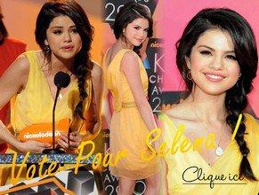 . . Selena a posté un nouvel extrait de Who Says sur son Twitter... ♥  . Miss Gomez est nominé au Kid's Choice Awards 2011 qui auront lieu le 2 Avril... Elle est nominée dans 3 catégorie différentes. Celle de Meilleure Série Télé pour sa série, celle de Meilleure Actrice Télé et celle de Meilleure Chanteuse.  . .
