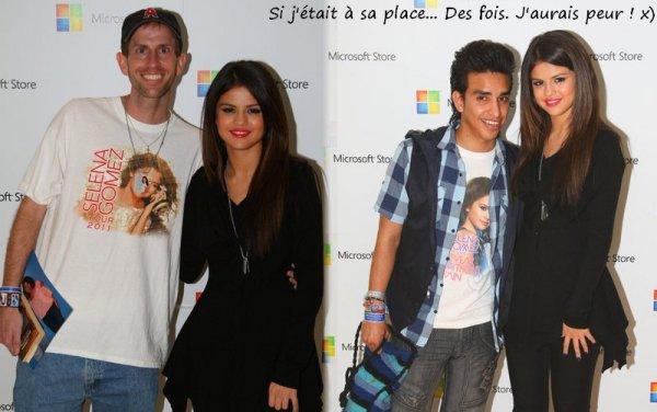 . 27 Mars > Selena se rend à l'anniversaire de Perez Hilton...  Je sur-kiff sa tenue ! Elle est toute Jolie ♥  .  + Des photos de Selena avec des Fans lors de l'évènement Microsoft Store.. .