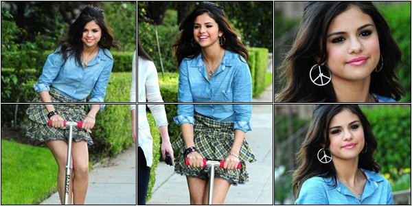 30 Avril > Selena en pause lors du tournage pour la PUB de sa nouvelle collection Dream Out Loud