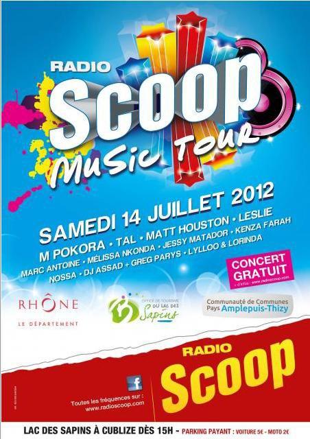 03/07/12 M pokora présent au Scoop Music Tour 2012 le samedi 14 juillet