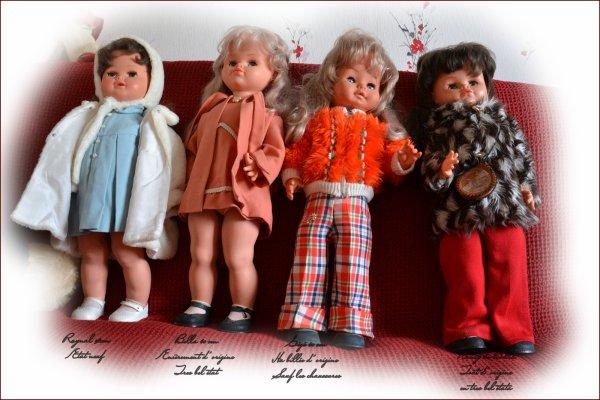 A Vendre - 4 grandes  poupées