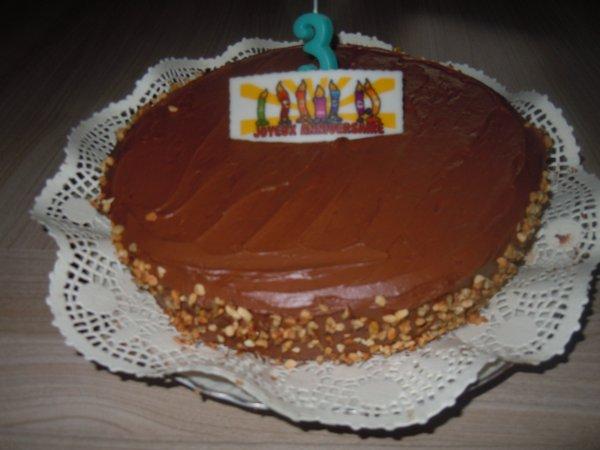 ...Le gâteau monté...
