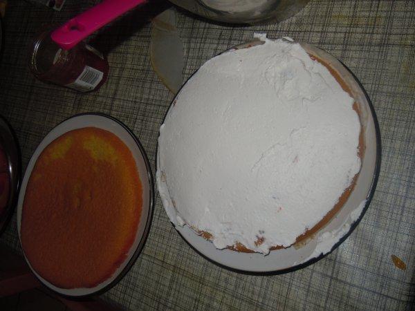 ...Montage du gâteau...