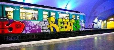 graff sur metro
