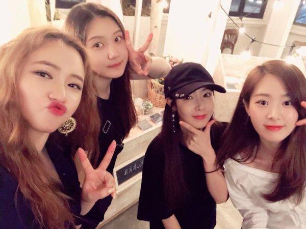 Photo de Sungyeon sur le compte Twitter de  Minjae des Sonamoo !(2018.09.05)