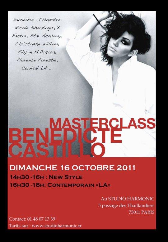 stage de bénédicte castillo a Paris au studio harmonic
