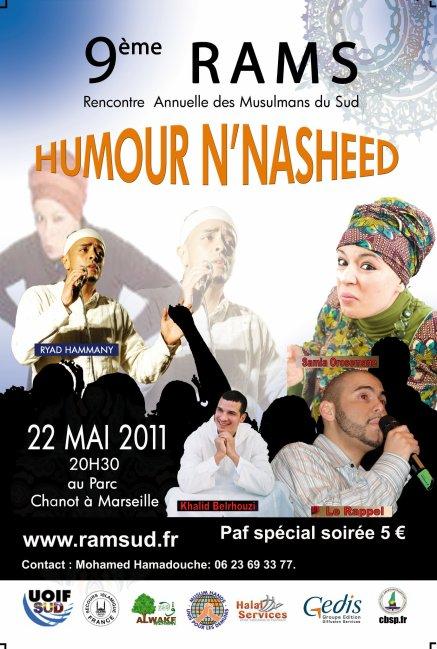 Concert à Marseille le 22 Mai lors de la Soirée Humour N Nasheed 2 ème Edition