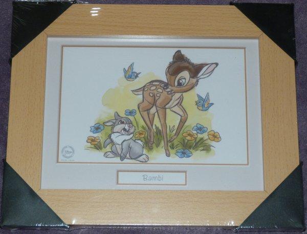 Disney Store - mug Raiponce / Cadre Bambi / Blu Ray Blanche Neige