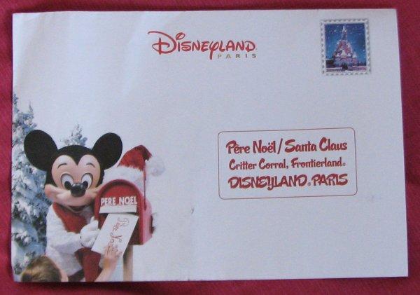 Lettre Pere Noel Disney.Disneyland 22 Novembre 2009 Lettre Le Monde Merveilleux