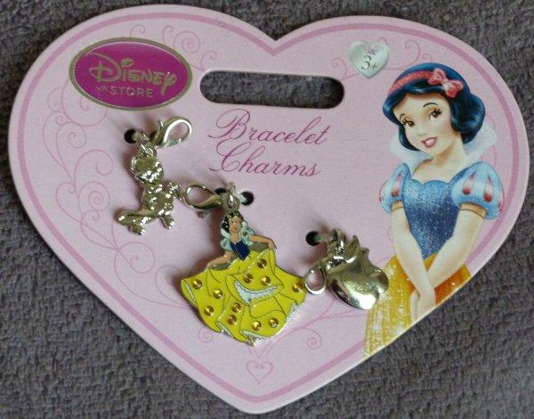 Bracelet Disney Store Blanche Neige / sacs réutilisables Cendrillon Frankenweenie