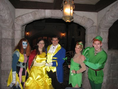 Disneyland 31 octobre 2010 - avec Sally, Clochette et Peter Pan