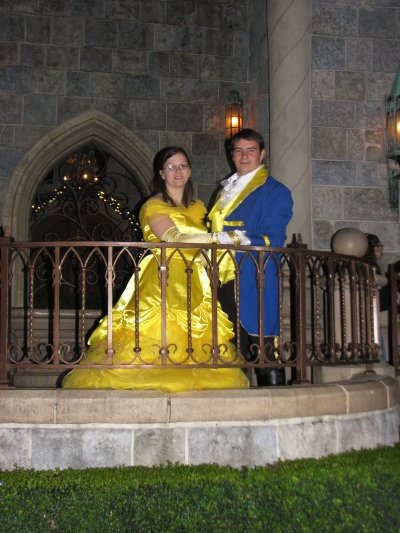 Disneyland 31 octobre 2010 - devant chateau
