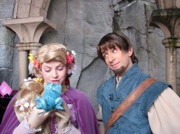 Disneyland 19 décembre 2010 - Raiponce et Flynn Aurore Philippe