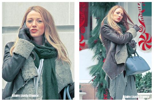 Blake a été aperçue le 13 Décembre sur le tournage d'une scène de Gossip Girl dans une rue de New York.