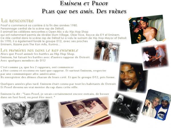 ARTICLE DU MOI : EMINEM & PROOF