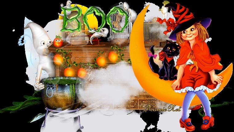 Bon début de semaine...avec ces jolies sorcières d'Halloween....