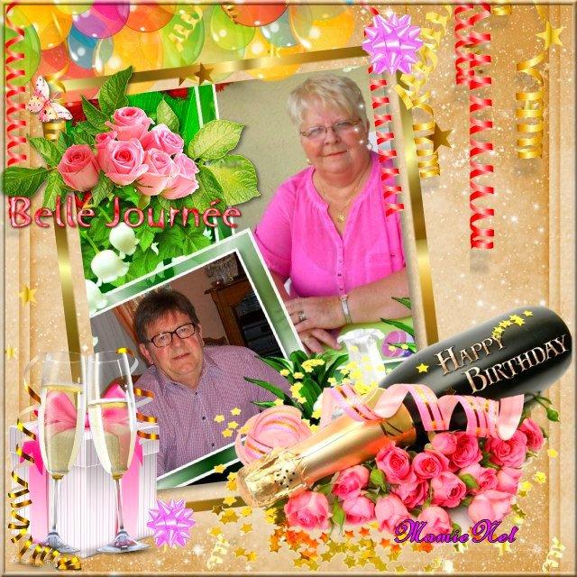 Heureux anniversaire Béatrice.....Bon anniversaire de Mariage...bisou