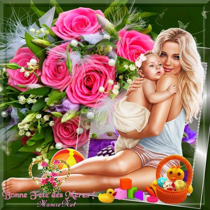 Pour vous mes amies ..en vous souhaitant une très bonne Fête des Mamans.