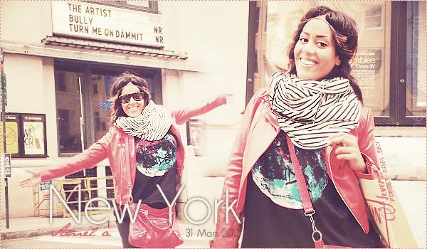 Amel à New York pour le tournage de son prochain clip