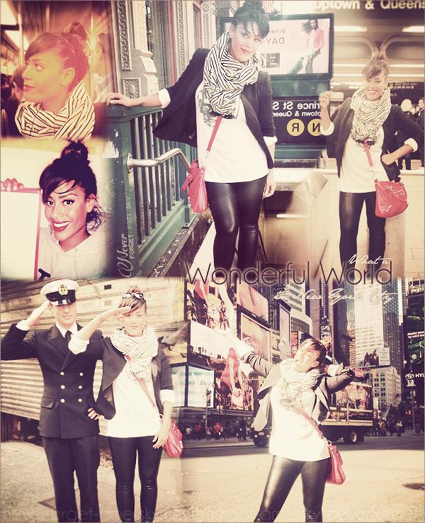 Amel à New York pour le tournage de son prochain clip #1