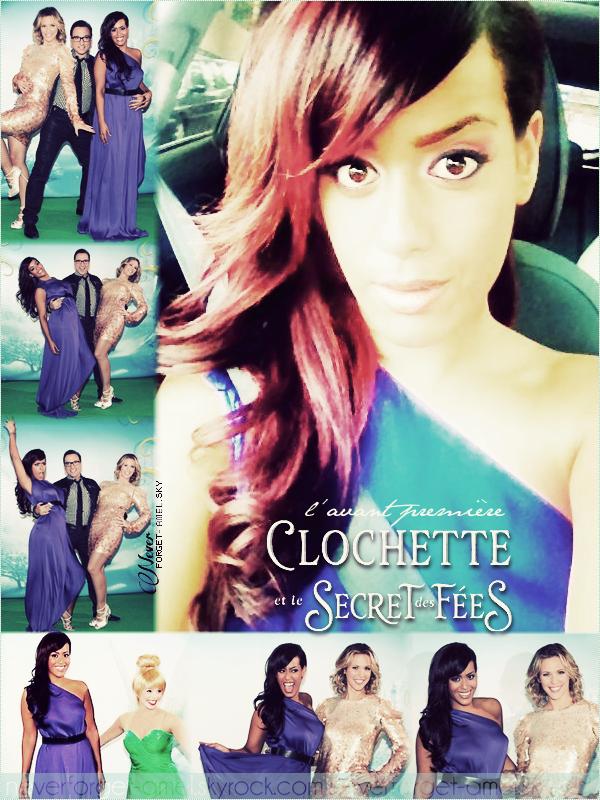 02 octobre 2012: Amel sur les Champs Elysées pour l'avant première de Clochette et le secret des Fées.
