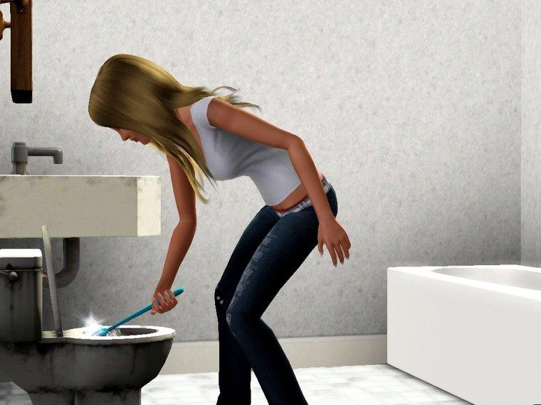 Màj 6 : Minouche dans les toilettes