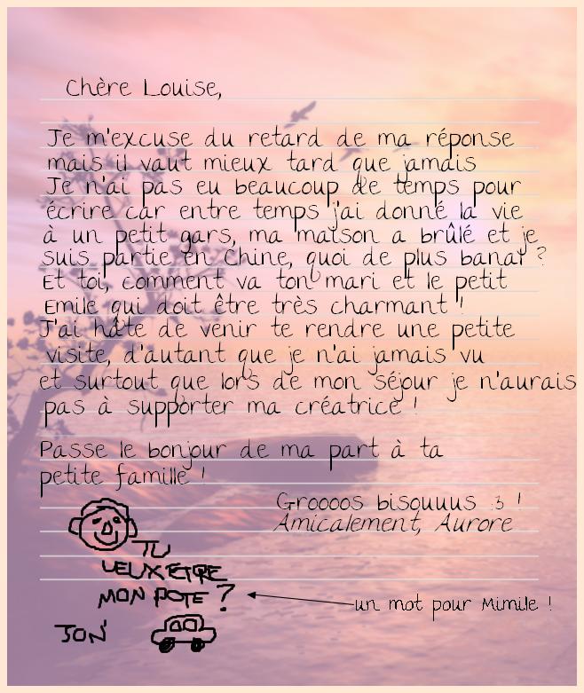 Réponse à Louise