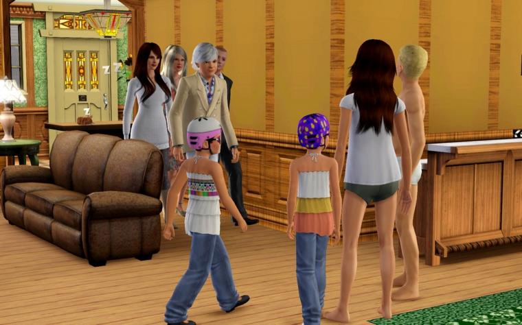 Màj 20 : Course de voiture...sur un canapé...sans console...les Sims quoi.