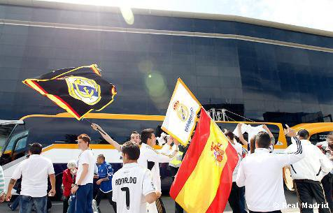 Arrivée du Real Madrid à Barcelone