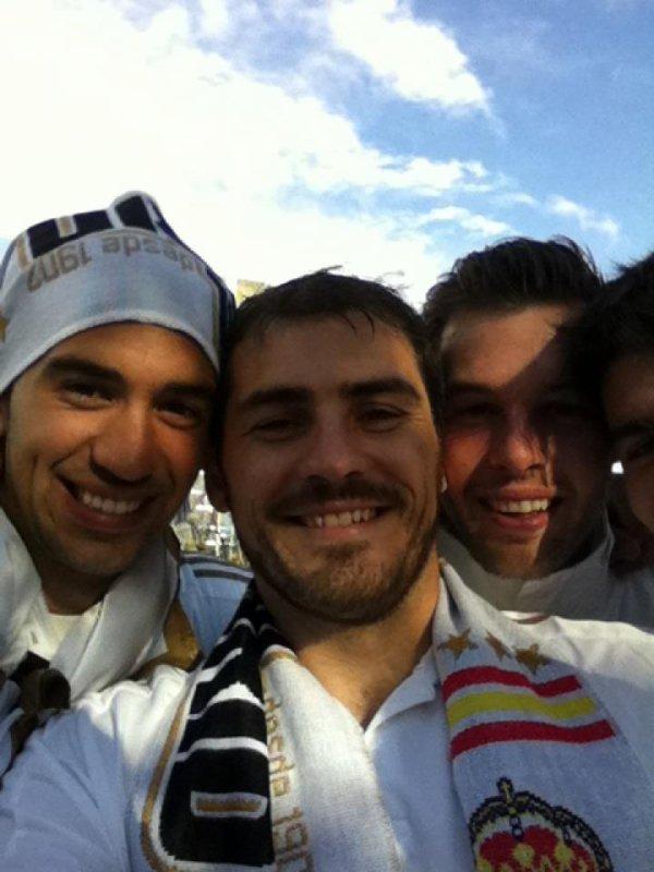 Casillas et les joueurs de Madrid