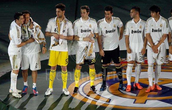League celebrations @ Santiago Bernabeu.