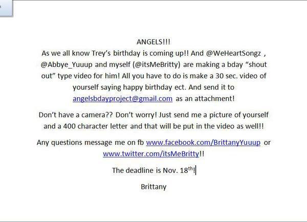 Trey's Birthday Project
